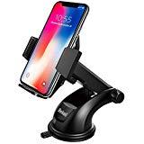 Support de voiture mobile, Support de voiture mobile universel Beikell pour pare-brise et tableau de bord avec ventouse en gel robuste et bras réglable pivotant sur 360 degrés pour iPhone X/8/7/6/ Samsung S7/S8 et plus encore
