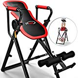 Sportstech IT300 Innovative Folding Multifunctional 6 in 1 Inversion Table - Intelligent Swivel Lever System, 360° Exercise, Incl. Safety Strap