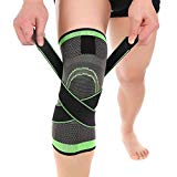 Articulations de genou de sport, articulations de genou de compression d'Aisprts pour les articulations de genou de compression d'Aisprts pour le soulagement de douleur d'Arthrite de larme de ménisque de ménisque de sports de basketball de course d'ajustement croisé pour les hommes et femmes (M)