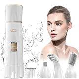 Rasoir facial pour femmes, rasoir électrique 4-en-1 Abody pour femmes avec technologie humide et sèche et chargeur USB pour visage, sourcils, jambes, nez, bikini