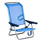 Chaise pliante Solenny, bleue, 77x60x14 cm, 5000107272720095