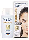 Photoprotecteur ISDIN Fusion Water SPF 50+ | Écran solaire visage usage quotidien | Texture ultra légère | 50ml