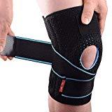 Genouillère réglable pour ménisque Protecteur de rotule de ligament de ligament de sport Protecteur de rotule Rotuliana ouverte Antidérapant Stabilisateur de compression en néoprène pour la course à pied Crossfit