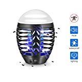 Lampe électrique d'extérieur TDW pour moustiques, anti-moustiques de camping, lampe portative 2 en 1 pour tuer les moustiques