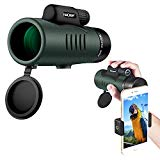 K&F Concept Monoculaire 12 x 50 HD Nitrogen IP68 Waterproof Spotting Scope Portable Telescope with Phone Clip for Animal or Bird Watching/Hunting trips