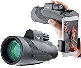 Télescope monoculaire Gosky 12x 50 à prisme étanche haute puissance - Gamme antichocs étanche à la buée, prisme BAK4 FMC