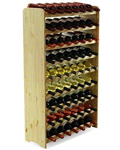 MODO24 Porte-bouteilles de vin Porte-bouteilles pour 63 bouteilles de vin nouveau