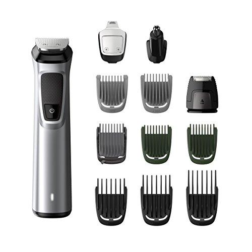 Philips MG7710/18 12 en 1 - Tondeuse tout-en-un : pour la barbe, les petits poils, les cheveux, le nez et les oreilles, la tondeuse à cheveux, la cireuse, le visage, le corps, la tête