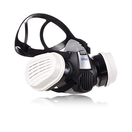Dräger X-Plore 3300 | Kit demi-masque + filtres ABEK1 HG P3 RD | Respirateur de sécurité pour travaux chimiques contre les vapeurs, les agents de conservation, les pesticides