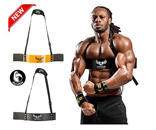 U APPAREL Ulisses Jnr Blaster Arm Support Braces, pour la taille et la force, noir/jaune, taille unique