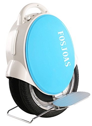 Run & Roll Two Rabbits Electric Double Wheelled Unicycle, Male, Blanc/Bleu, 14'