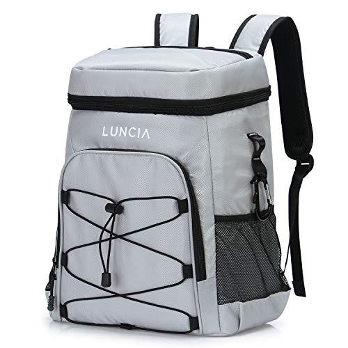 LUNCIA Sac à dos thermique Sac à dos souple imperméable à réfrigération portable Sac à dos souple pour le transport d'aliments à la plage, au pique-nique, dans les champs ou au barbecue