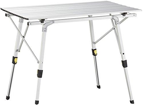 Uquip Variété M - Table de camping, aluminium, 89 x 53cm, réglable en hauteur