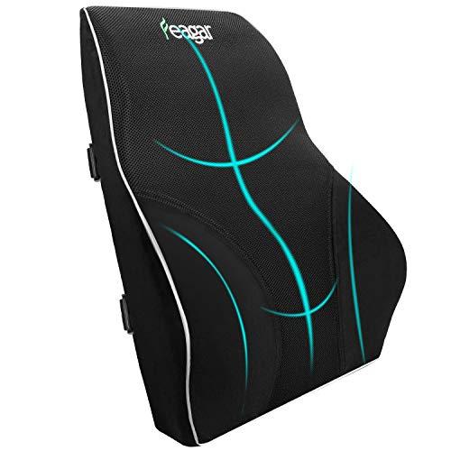 Le coussin lombaire Memory Sponge Car, le support lombaire ergonomique Feagar soulagent la fatigue et la douleur par Office Black