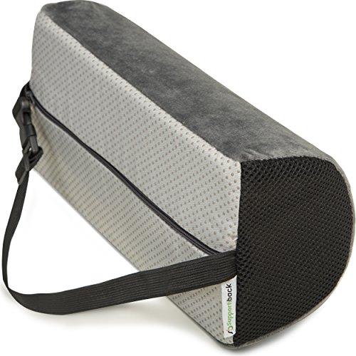 Coussin D lombaire de soutien pour la thérapie de la posture. Avec mousse à mémoire de forme, coussin ergonomique pour la maison, le bureau, la voiture, les voyages. Repos et prévention des douleurs lombaires et dorsales