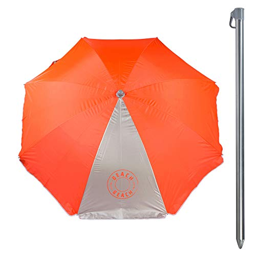 Aktive 62109 Parasol 200 cm de protection UV50 Plage - 2 assortiments, Diamètre