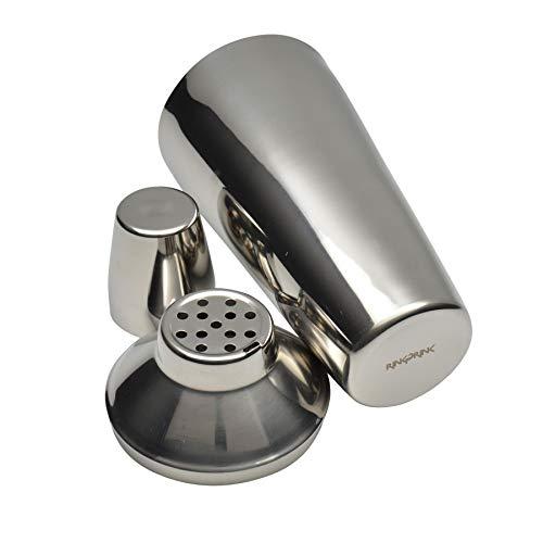 Ensemble de cocktail 3 pièces - Shaker Manhattan, dispositif de mesure et filtre intégré - Acier inoxydable - 800 ml