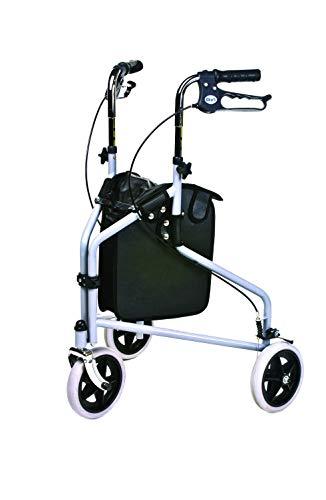 Patterson Medical - Cadre de marche avec 3 roues et freins verrouillables, gris