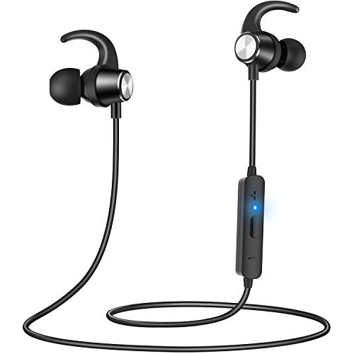 Oreillette Bluetooth, Oreillette Bluetooth sans fil Gritin Sports In-Ear Stereo 4.2 HiFi Handsfree avec réduction du bruit du microphone anti-transpiration pour Smartphones iOS Android
