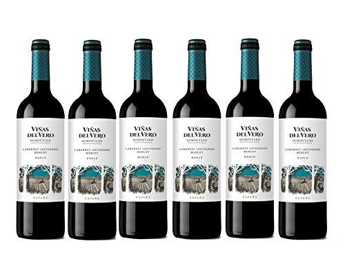 Viñas Del Vero Cabernet-Merlot rouge - Vin D.O. Somontano - 6 bouteilles x 750 ml - Total : 4500 ml